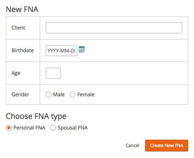 Creating an FNA - Kronos FNA Documentation
